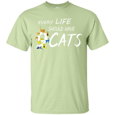Every Life Should Have 9 Cats T-Shirt-T-Shirts-FreakyPet