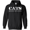 Cats - Because People Suck Hoodie