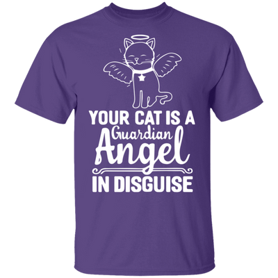 Your Cat Is A Guardian Angel In Disguise T-Shirt-T-Shirts-FreakyPet