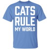 Cats Rule My World T-Shirt-T-Shirts-FreakyPet