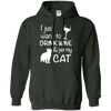 I Just Want To Drink Wine And Pet My Cat Hoodie