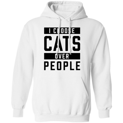 I Choose Cats Over People Hoodie-Sweatshirts-FreakyPet