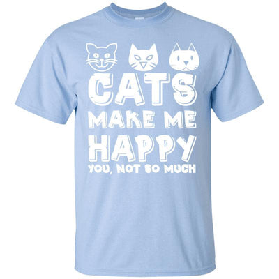 Cats Make Me Happy T-Shirt-FreakyPet