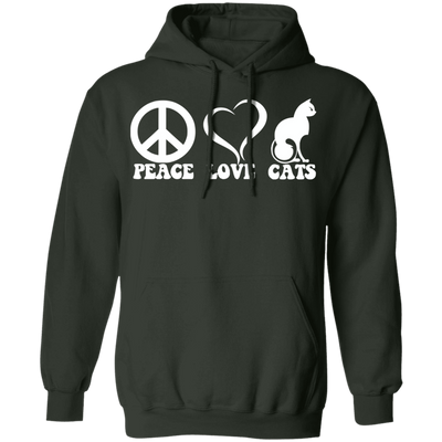 Peace Love Cats Hoodie-Sweatshirts-FreakyPet