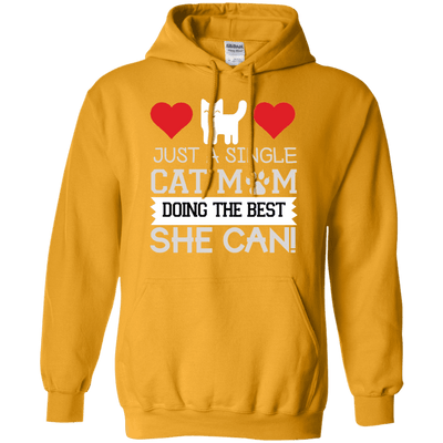 Just A Single Cat Mom Hoodie