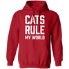 Cats Rule My World Hoodie