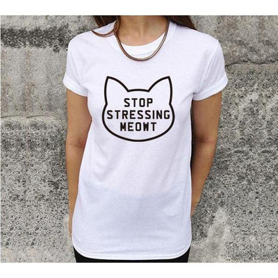 0290e0d71 Stop Stressing Cats T-Shirt-T-Shirts-FreakyPet