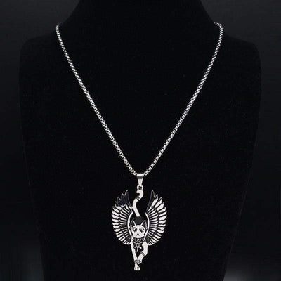Egyptian Sphinx Cat Bastet Necklace-Pendant Necklaces-FreakyPet