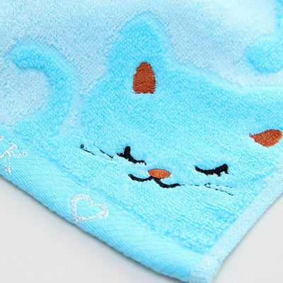 Bamboo Fiber Kitten Face Bath Towels-Face Towels-FreakyPet