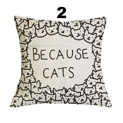 cat design cushion covers