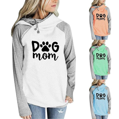 Dog Mom Bi-color Oversize Hoodie