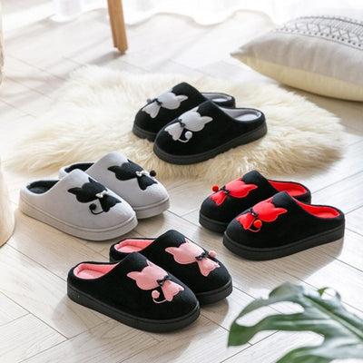 Cute Cat Warm House Slippers-FreakyPet