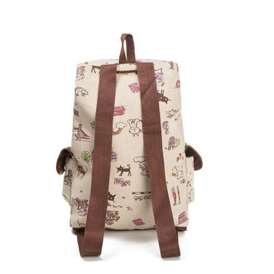 Lovely Cat Drawstring Backpack-Backpacks-FreakyPet