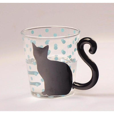 Tail Swing Cat Glasses-Mugs-FreakyPet