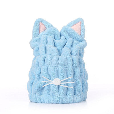 Cute Cat Ears Hair-Drying Towel Bath Cap-FreakyPet