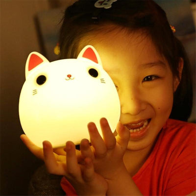 Cute Cat Silicone LED Lamp-Night Lights-FreakyPet