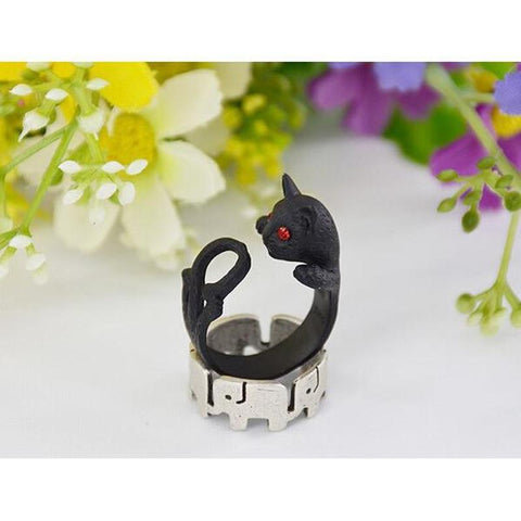 Tail Twist Cat Ring