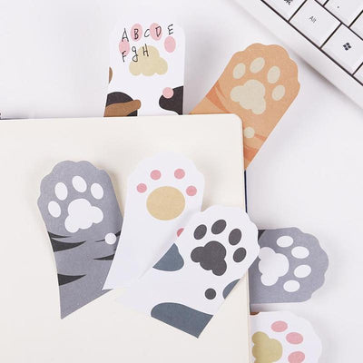 3pcs Cat Paw Sticky Notes Sticker