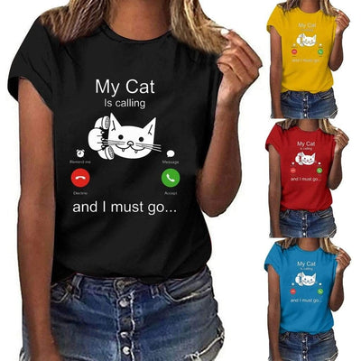 My Cat Is Calling T-shirt