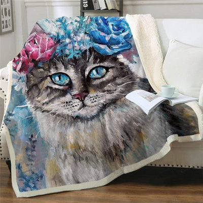 Artful Fluffy Fleece Cat Blankets