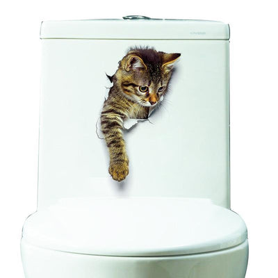 3D Cat Funny Adhesive Sticker-Wall Stickers-FreakyPet
