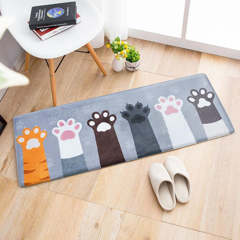 Cute Cat Paw Floor Carpet