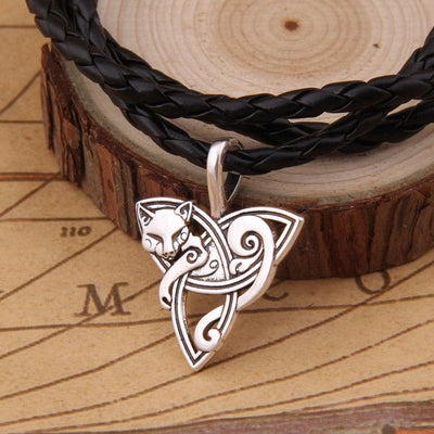Celtic Viking Cat Necklace