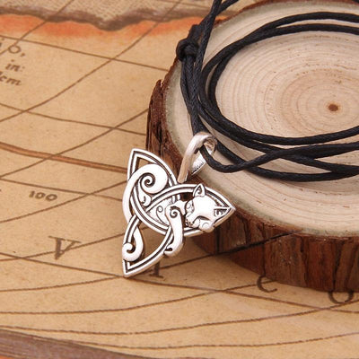 Celtic Viking Cat Necklace-FreakyPet