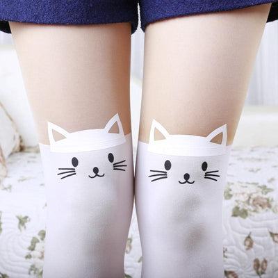 Pointy Ear Cat Pantyhose