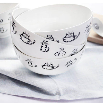 Ceramic Cute Cat Bowls