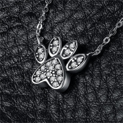 Dog Paw Pendant Necklace-Pendant Necklaces-FreakyPet