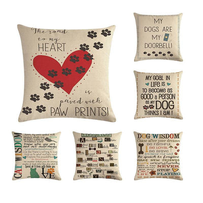 Sweet Letter Cushion Cover