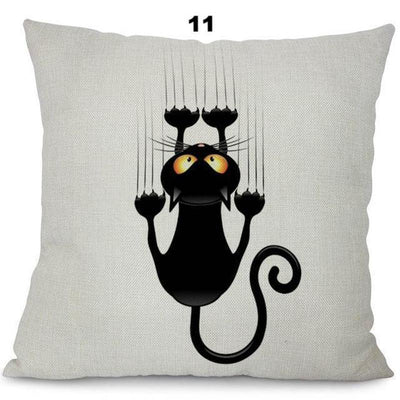 Cute Cat Cotton Linen Pillow Cases 2018 Edition-Cushion Cover-FreakyPet