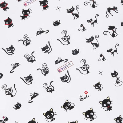 1 Sheet Cat Nail Art Sticker-Stickers & Decals-FreakyPet