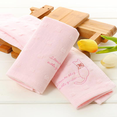Double Layer Cotton Cat Face Towel-Face Towels-FreakyPet