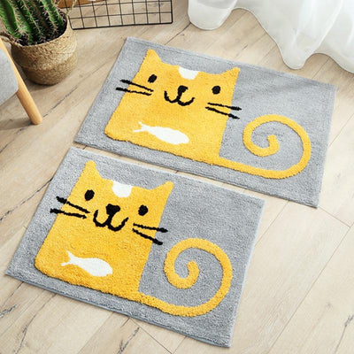 Cartoon Cat Bathroom Mat-Mat-FreakyPet