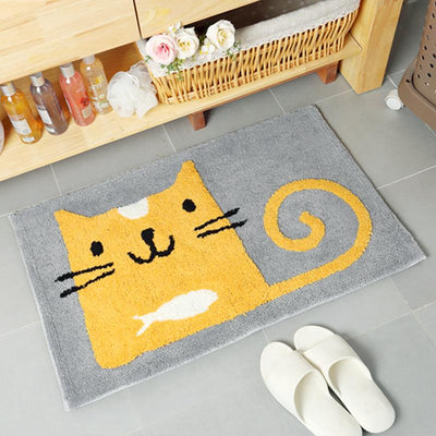 Cartoon Cat Bathroom Mat-FreakyPet