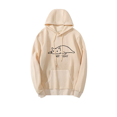 Not Today Cat Hoodie Pullover
