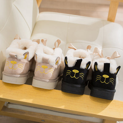Cute Cat Face Snowboots