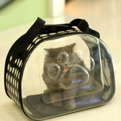 Transparent Pet Carrier Bag-Dog Carriers-FreakyPet