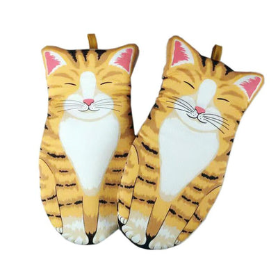 Cute Cat Paw Baking Gloves-FreakyPet