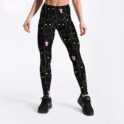 Yellow Cat Eye Leggings