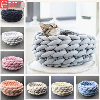 Luxurious Crochet Hand-knit Cat & Dog Bed-FreakyPet