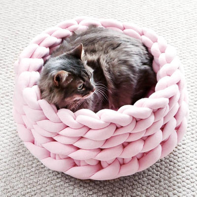 Luxurious Crochet Hand-knit Cat & Dog Bed-Cat Beds & Mats-FreakyPet
