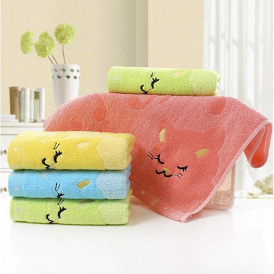 Bamboo Fiber Kitten Hand Towels-Face Towels-FreakyPet