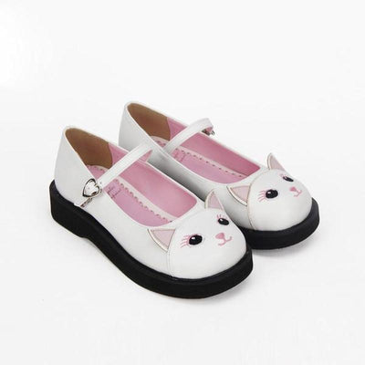 Pussy Pink Lolita Cat Shoes-FreakyPet