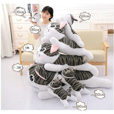 Sweet Huggable Cat Plush Toys In Small & 100CM Life Size