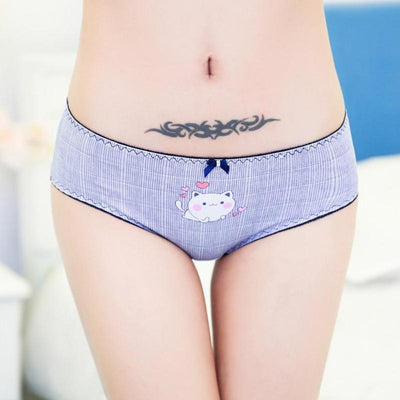 Cat Panties in Cotton with 3D Print-Briefs-FreakyPet