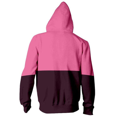 Unisex Peek A Boo Bi Color Cat Hoodie