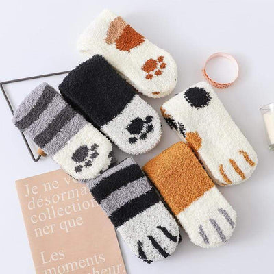 Cute Cat Paw Fleece Socks